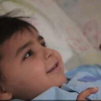 Madchat Tapash, après une chirurgie du cœur. (Crédit : Hôpital Rambam)