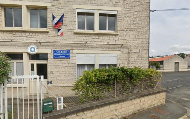 Le collège Gérard-Philippe, à Chauvigny. (Crédit : Google street view)