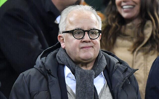 Fritz Keller, le président de la fédération allemande de football (DFB), à un match de l'Euro 2020, le 16 novembre 2019. (Crédit : AP Photo/Martin Meissner)