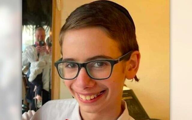Elazar Yitzhak Koltai, 13 ans, tué dans la tragédie du mont Meron, le 30 avril 2021 (Crédit : autorisation)