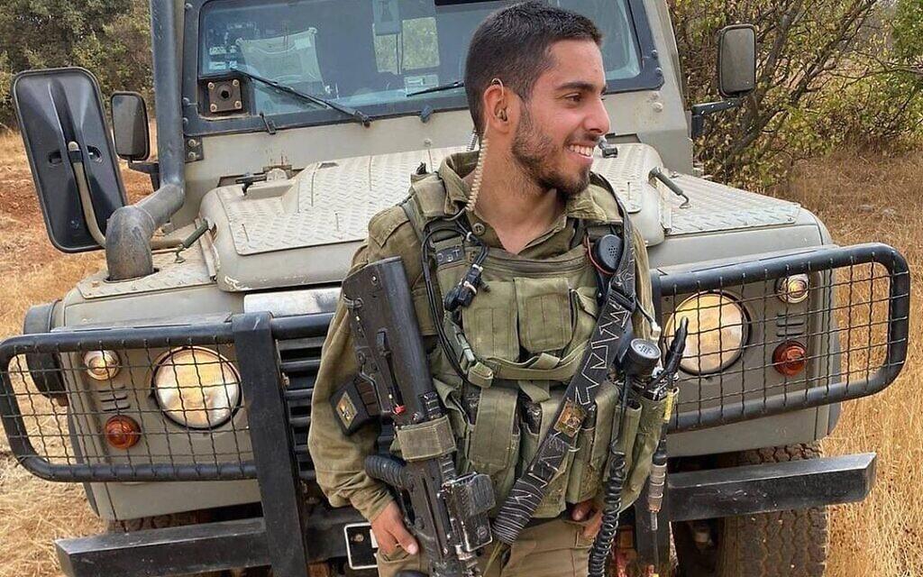 Le combattant de Tsahal, le sergent-chef Omer Tabib de la Brigade Nahal, a été tué ce matin par un missile antichar tiré par le Hamas depuis Gaza vers Israël. Il avait 21 ans. (Crédit : armée israélienne)