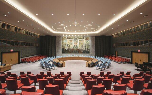 Le conseil de sécurité de l'ONU à New York. (Crédit : Mission de la Norvège à l'ONU/ Twitter)
