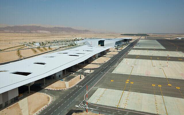 Vue du nouvel aéroport Ramon avant son ouverture, à Timna, près d'Eilat, dans le sud d'Israël, le 18 octobre 2019. (Moshe Shai/Flash90)