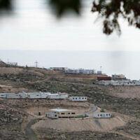 Vue de l'avant-poste israélien de Mitzpe Dani, en Cisjordanie, le 17 janvier 2021. (Sraya Diamant/Flash90)