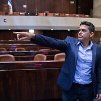 Le député Yamina Amichai Chikli vu à la Knesset, le 5 avril 2021. (Olivier Fitousi/Flash90)