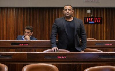 Abir Kara, député du parti Yamina, à la Knesset le 5 avril 2021. (Olivier Fitousi/Flash90)
