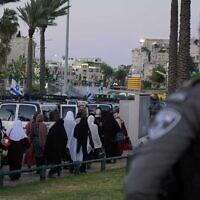 La police se prépare à des  tensions à Jérusalem pour le dernier week-end du Ramadan, le 7 mai 2021. (Crédit : Police israélienne).