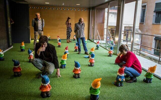 "L'installation ""MachoMan"" du vidéaste espagnol Alex Rigola sera en place au prochain festival de Jérusalem, qui ouvrira ses portes le 3 juin 2021. (Autorisation de Marti Artalejo)"