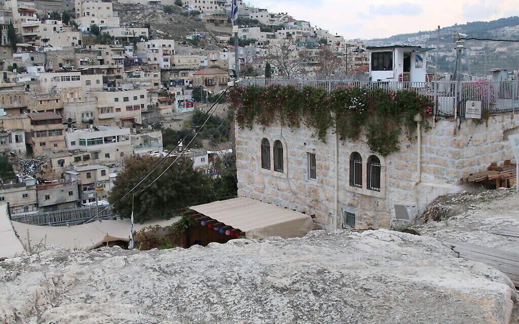 La maison de Meyuhas dans la Cité de David, à Jérusalem. (Crédit : Shmuel Bar-Am)