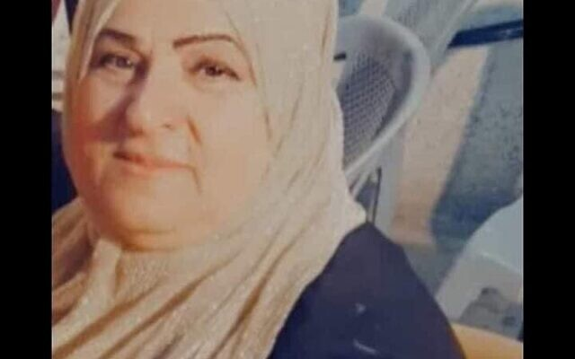 Fahima al-Hroub, 60 ans, résidente de Wadi Fukin abattue par les soldats israéliens le 2 mai 2021 (Crédit : Famille al-Hroub)