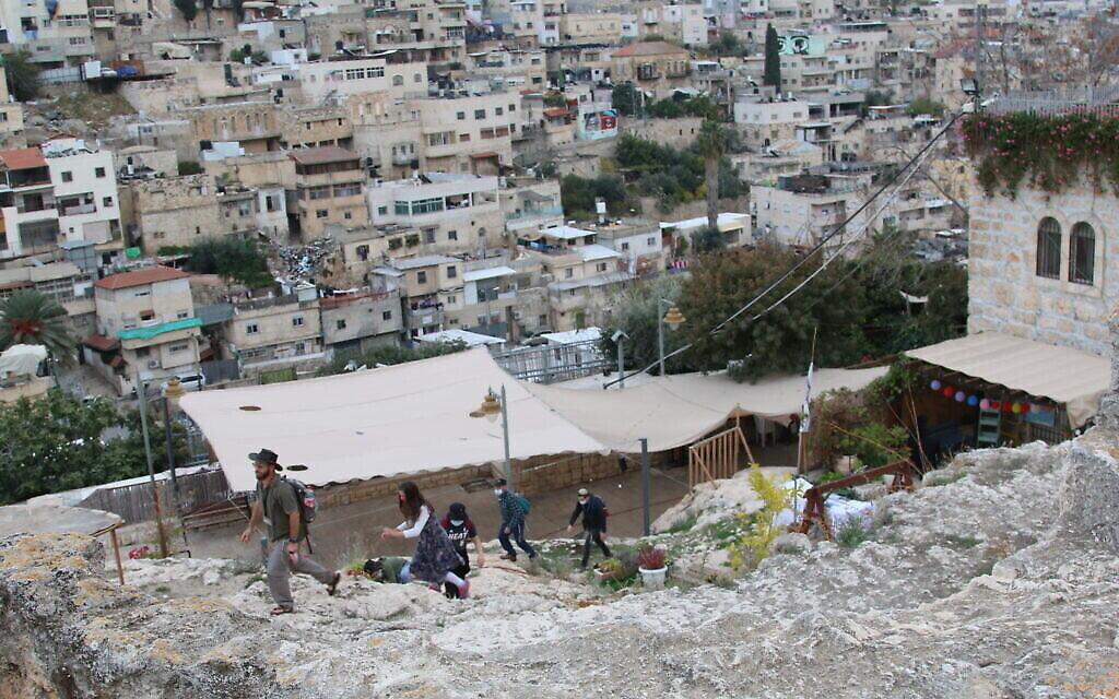 Le site de la Cité de David, à Jérusalem, qu'avait fouillé l'archéologue Baron Edmund de Rothschild. (Crédit : Shmuel Bar-Am)
