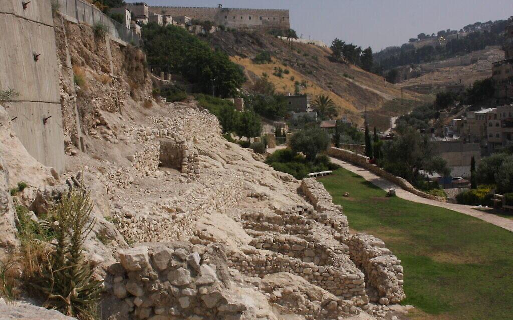 La cité de David à Jérusalem. (Crédit : Shmuel Bar-Am)