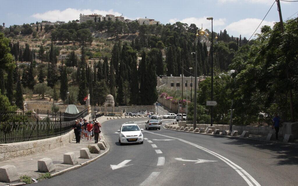 Jericho Road à Jérusalem, où des soldats israéliens avaient été tués après une erreur d'orientation. (Crédit :  Shmuel Bar-Am)