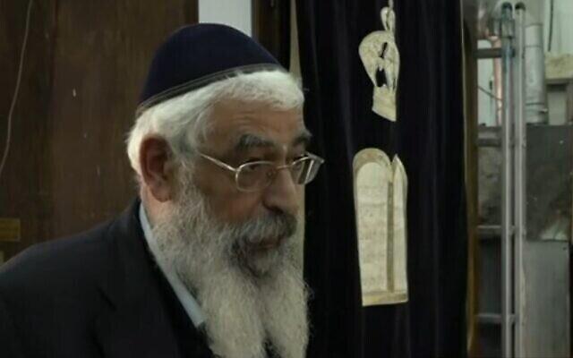 Le directeur d'une synagogue de Meron, Haim Ben-Shimon, le 2 mai 2021. (Capture d'écran vidéo)