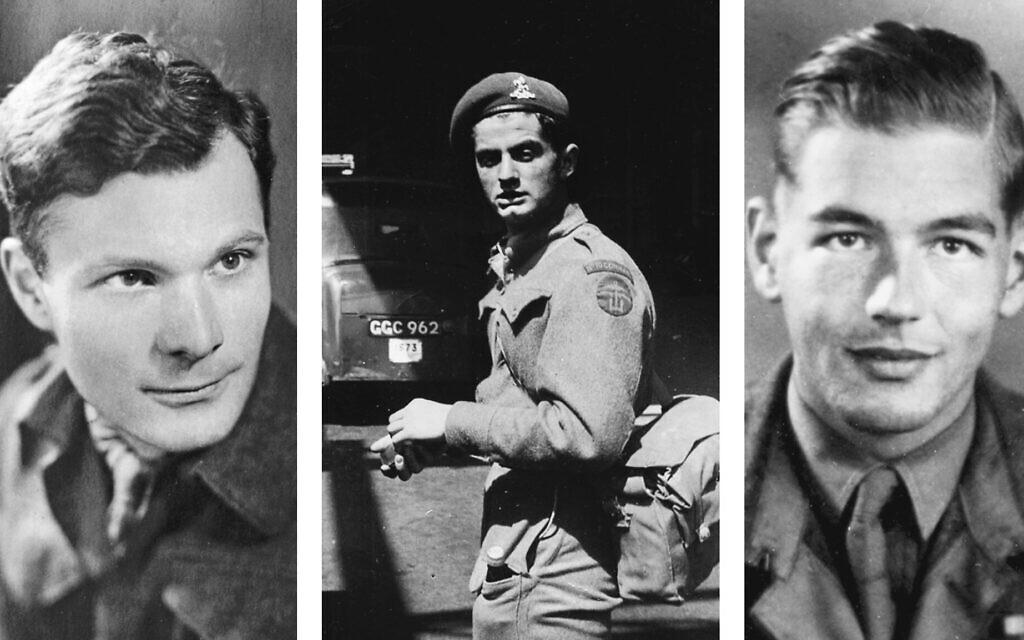 De gauche à droite : Manfred Gans (Crédit : USHMM) ; Peter Masters (Crédit : famille Anson) ; Colin Anson (Crédit : famille Anson)