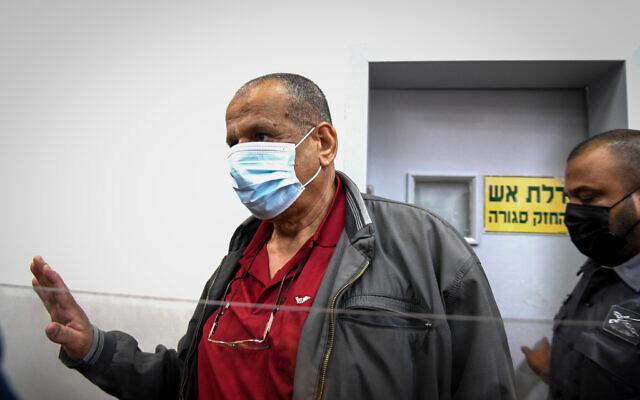 L'imam de Lod Sheikh Yosef Albaz, au tribunal de Rishon LeZion, le 17 juin 2021. (Crédit : Flash90)