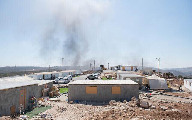 Une vue de l'avant-poste illégal d'Evyatar, le 21 juin 2021. (Crédit : Sraya Diamant / Flash90)
