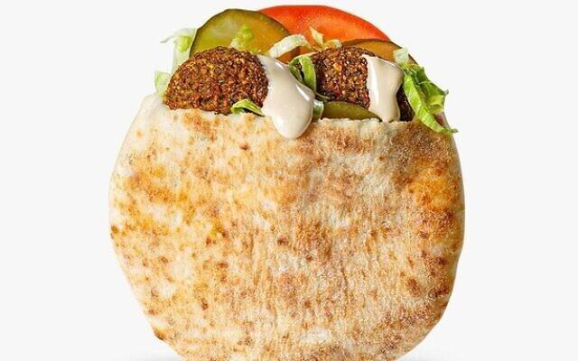 Le Mac Falafel. (Crédit : McDonald's)