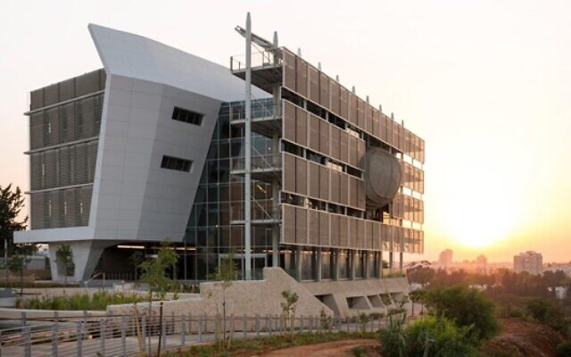 Le bâtiment Porter des Etudes environnementales de l'Université de Tel Aviv. (Crédit : Shai Epstein)