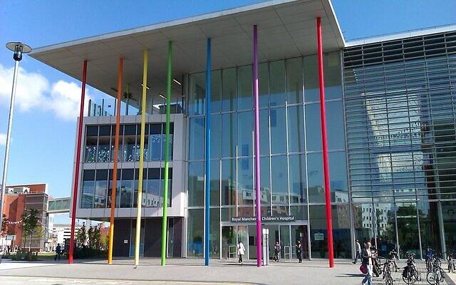 L'hôpital pour enfants du Royal Manchester où Alta Fixsler est traitée depuis sa naissance. (Crédit : Wikimedia Commons)