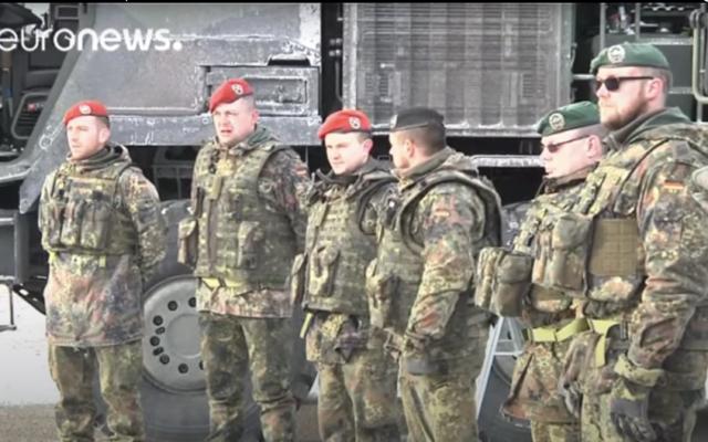 Des soldats allemands (Capture d'écran Euronews)