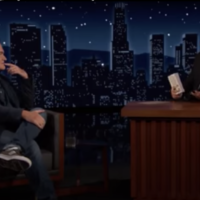 Quentin Tarantino lors du talik-show de Jimmy Kimmel le 22 juin 2021 (capture d'écran Youtube)