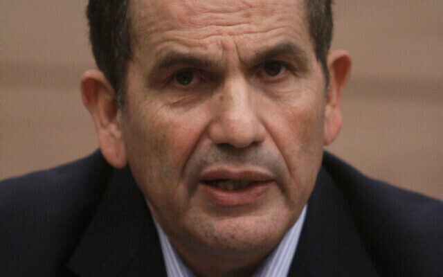 Yaakov Edri, le maire d'Or Akiva, à la Knesset, le 3 janvier 2011. (Crédit:Uri Lenz/FLASH90)
