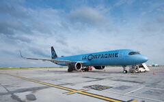 Un Airbus A321 Neo de La Compagnie. (Crédit : La Compagnie)