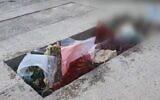 La tombe d'un soldat israélien mort en prison dans des circonstances peu claires. (Capture d'écran Kan)