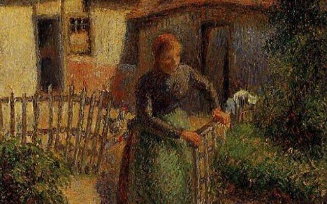 La Bergere rentrant des moutons, de Pissaro. (Crédit : wikiart)