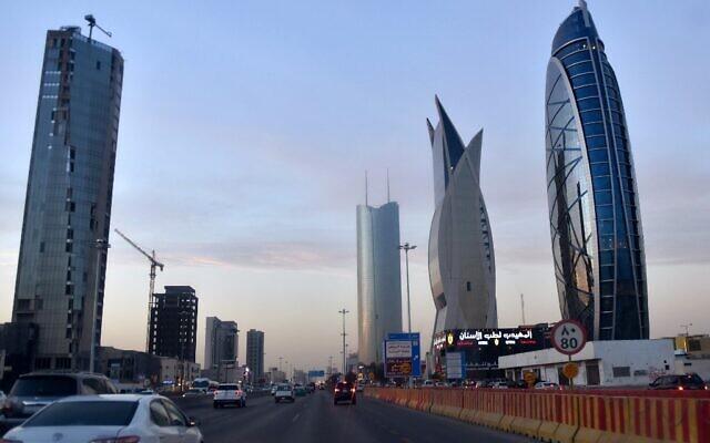 Des tours de Ryad, la capitale de l'Arabie saoudite et le principal pôle financier du pays, le 16 décembre 2016. (Crédit : FAYEZ NURELDINE / AFP)