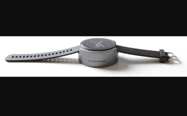 La montre médicale CardiacSense. (Crédit : CardiacSense)