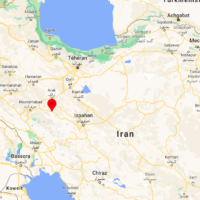 Aligoudarz, en Iran. (Crédit : capture d'écran Google Maps)