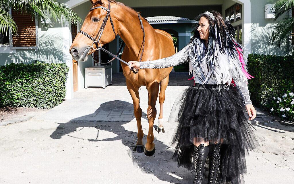 Dani G. Waldman et l'un de ses chevaux. (Autorisation)
