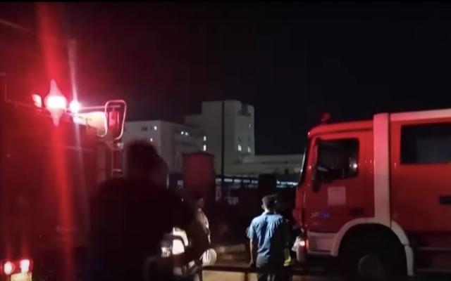 La scène de l'incendie meurtrier de Nassiriya (capture d'écran YouTube: France 24)