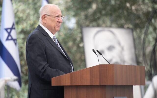 Le président Reuven Rivlin lors d'une cérémonie à la résidence du président de Jérusalem, le 5 juillet 2021. (Crédit : Ariel Hermoni/ministère de la Défense)