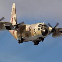 PHOTO Un avion C-130 de l'Armée de l'air royale marocaine se pose dans une photo non datée. (Crédit : Dmitry Terekhov/CC BY-SA 2.0/Wikimedia)