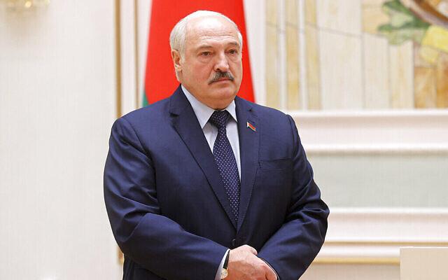 Le président du Bélarus, Alexander Lukashenko, prend la parole lors d'une cérémonie de remise de prix à Minsk, au Bélarus, le 2 juillet 2021. (Vladimir Martsul/BelTA Pool Photo via AP, File)