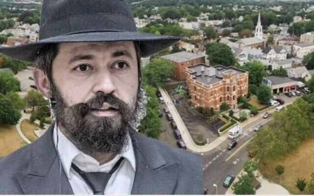 Le rabbin Shlomo Noginski, poignardé à Boston, le 1er juillet 2021 (Crédit : Chabad.org)