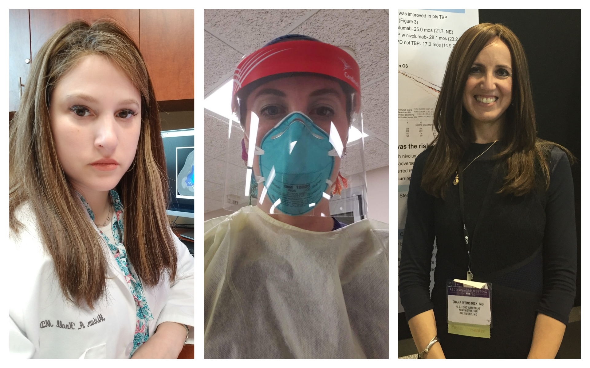 De gauche à droite : Dr. Miriam Knoll, ICU nurse Chaya Milikowski, et Dr. Chana Weinstock Neuberger. (Autorisation)