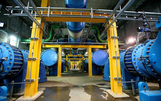 Vue de l'usine de filtration d'eau d'Eshkol dans le nord d'Israël, le 17 avril 2007. (Crédit: Moshe Shai/FLASH90)