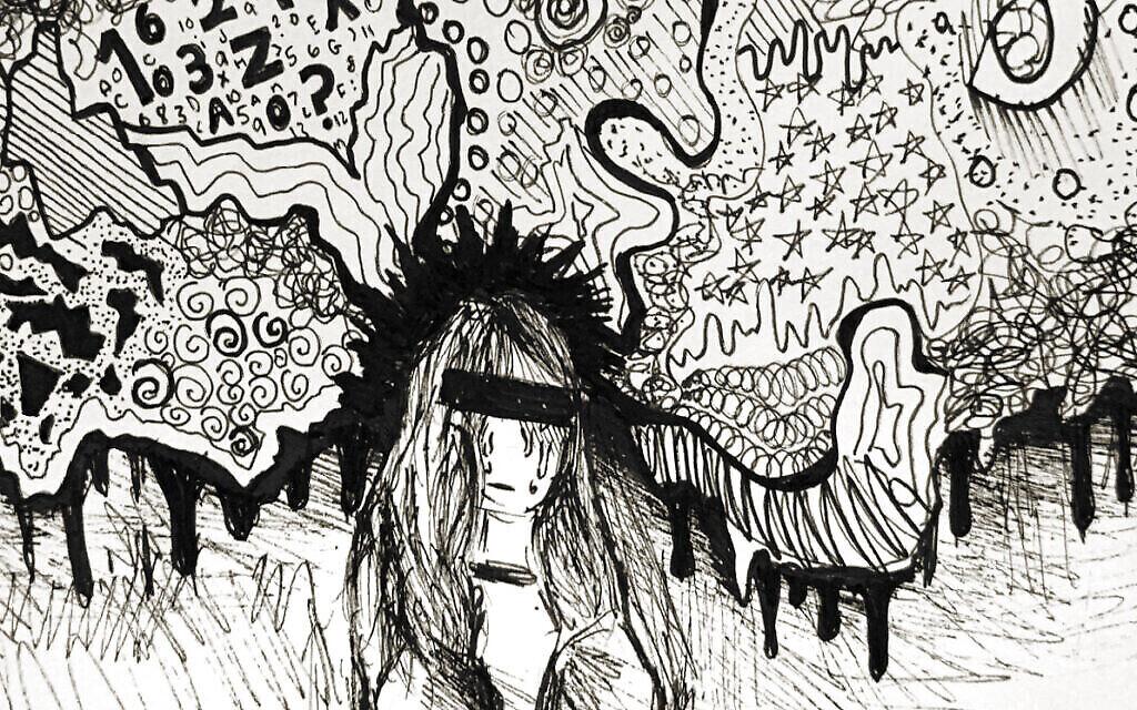 """Détail de l'œuvre d'art visuel soumise par Lily Pacuit au projet """"Dispatches from Quarantine"""" (avec l'aimable autorisation du projet """"Dispatches from Quarantine"""")."""