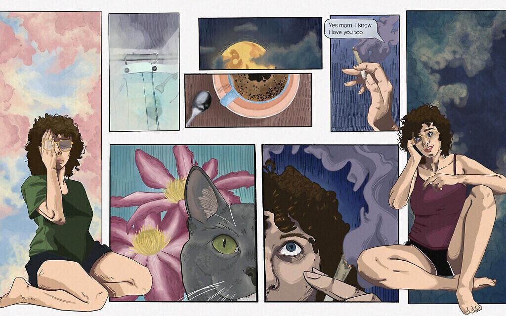 """Dispatches from Quarantine """", œuvre d'art visuel de Zoe Sevier (avec l'aimable autorisation du projet """" Dispatches from Quarantine """")."""