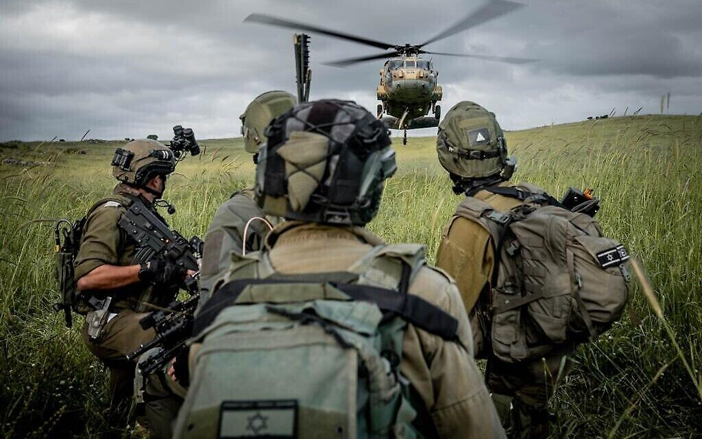 Des troupes de Tsahal s'entraînent pour une guerre contre le Hezbollah dans le nord d'Israël, sur une photo non datée. (Tsahal)