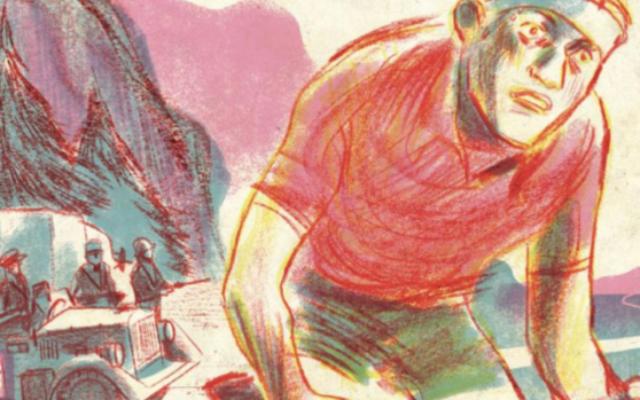 """La couverture du roman graphique """"Gino Bartali - Un champion cycliste parmi les Justes"""". (Crédit : Éditions Marabulles)"""