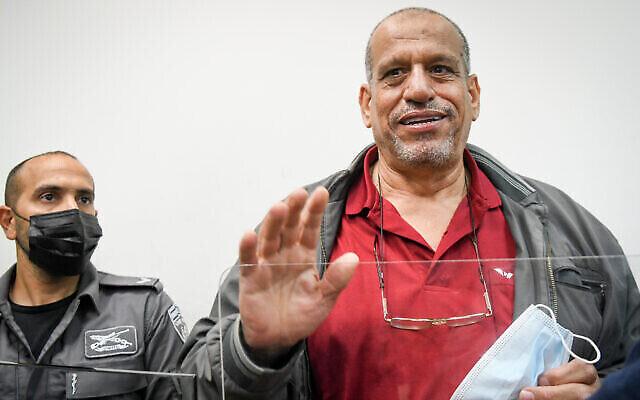 Sheikh Yusuf Albaz comparaît pour une audience au tribunal de première instance de Rishon Lezion le 17 juin 2021. (Flash90)