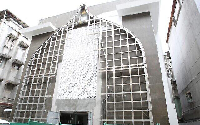 La façade du nouveau centre communautaire juif de Taïwan, dont l'ouverture est prévue en décembre 2021. (Crédit: Glenn Leibowitz)