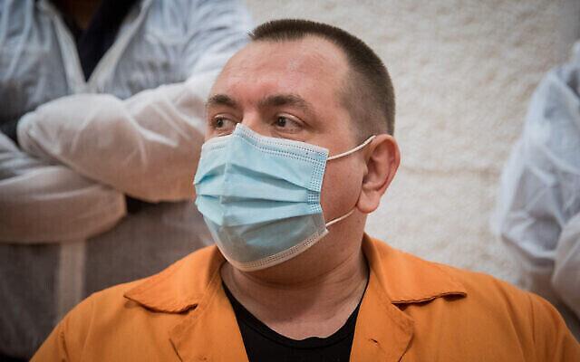 Le meurtrier condamné Roman Zadorov devant la Cour suprême à Jérusalem, le 10 novembre 2020 (Yonatan Sindel/Flash90)
