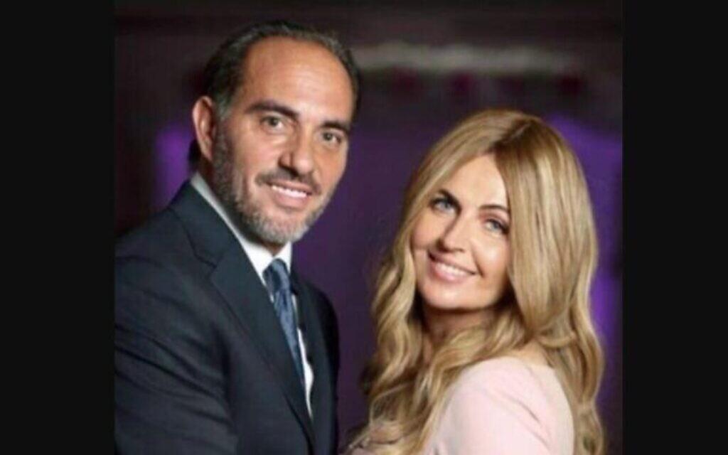 Harry Rosenberg en compagnie de sa défunte épouse, Anna. (Crédit : Chabad.org via JTA)
