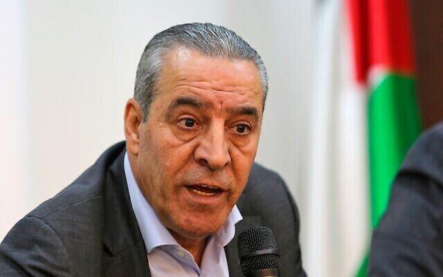 Le Commissaire aux Affaires civiles de l'Autorité palestinienne Hussein al-Sheikh (Crédit : WAFA)